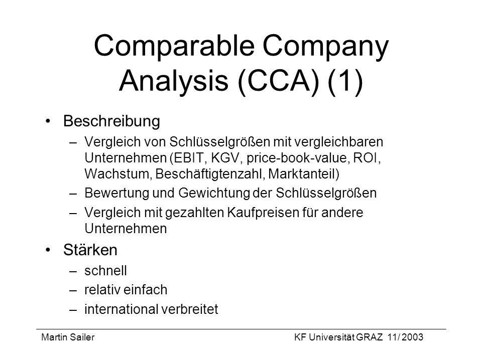 Comparable Company Analysis (CCA) (1)