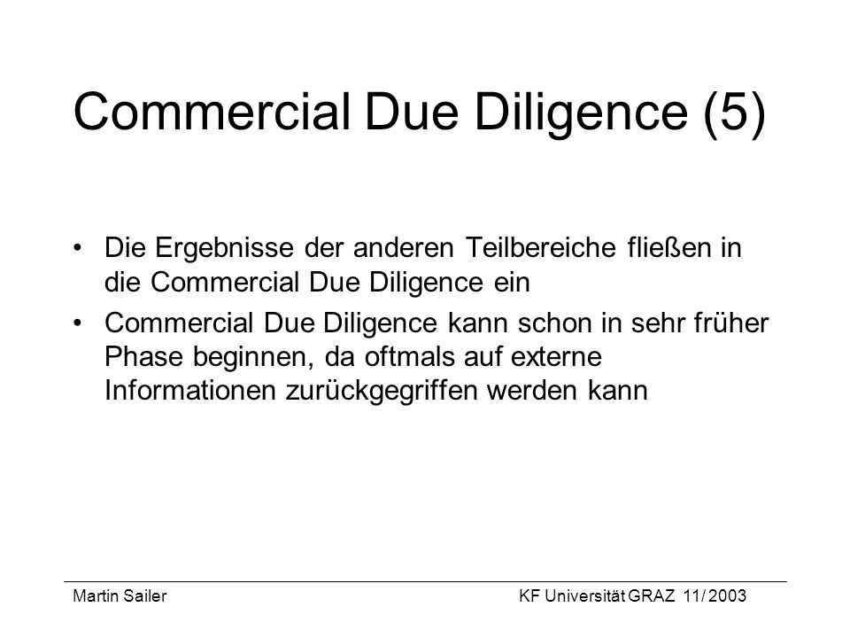 Commercial Due Diligence (5)