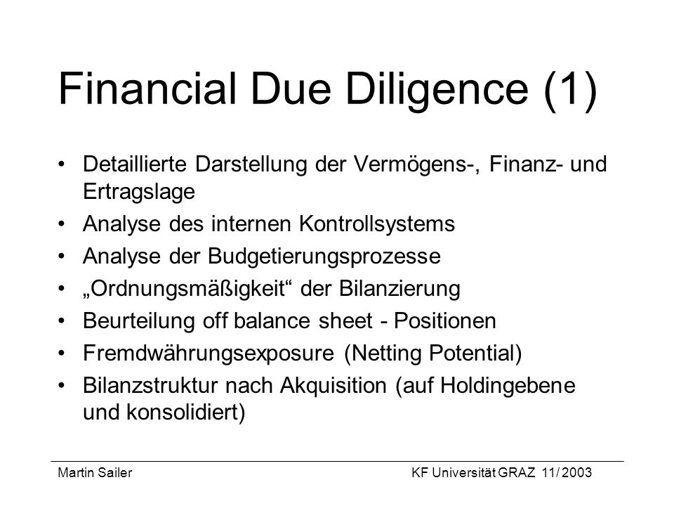 Financial Due Diligence (1)