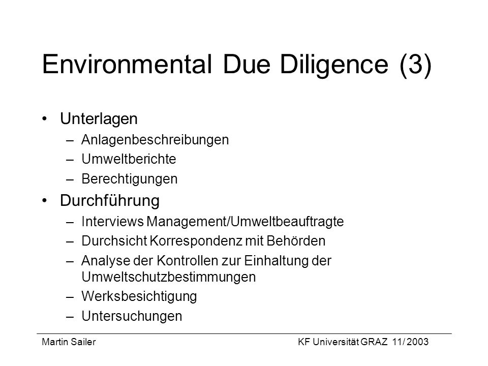 Environmental Due Diligence (3)