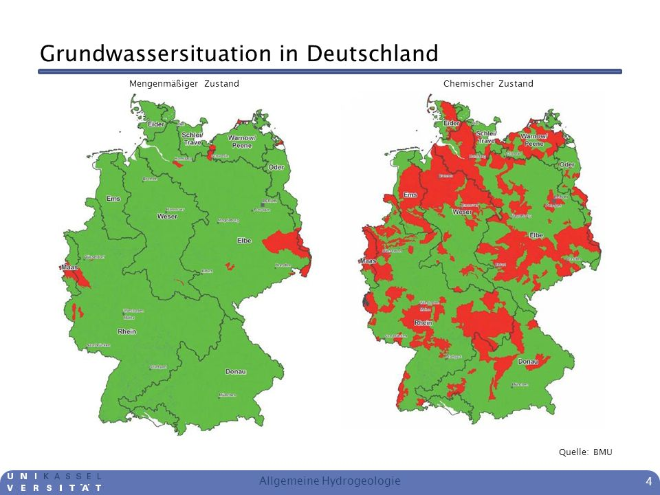 Grundwassersituation in Deutschland
