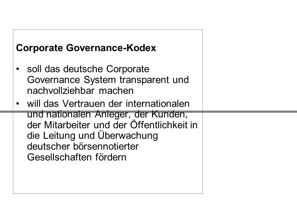 Corporate Governance-Kodex