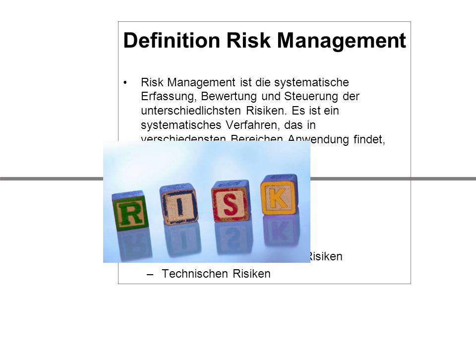 Definition Risk Management