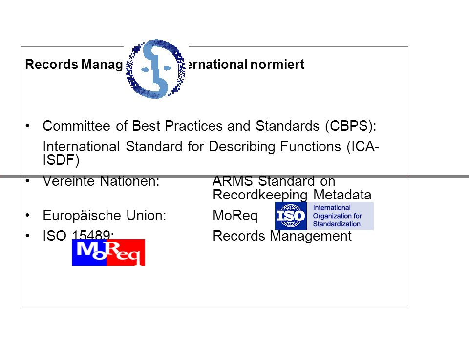 Committee of Best Practices and Standards (CBPS):