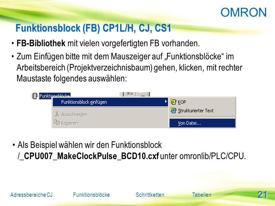 Funktionsblock (FB) CP1L/H, CJ, CS1