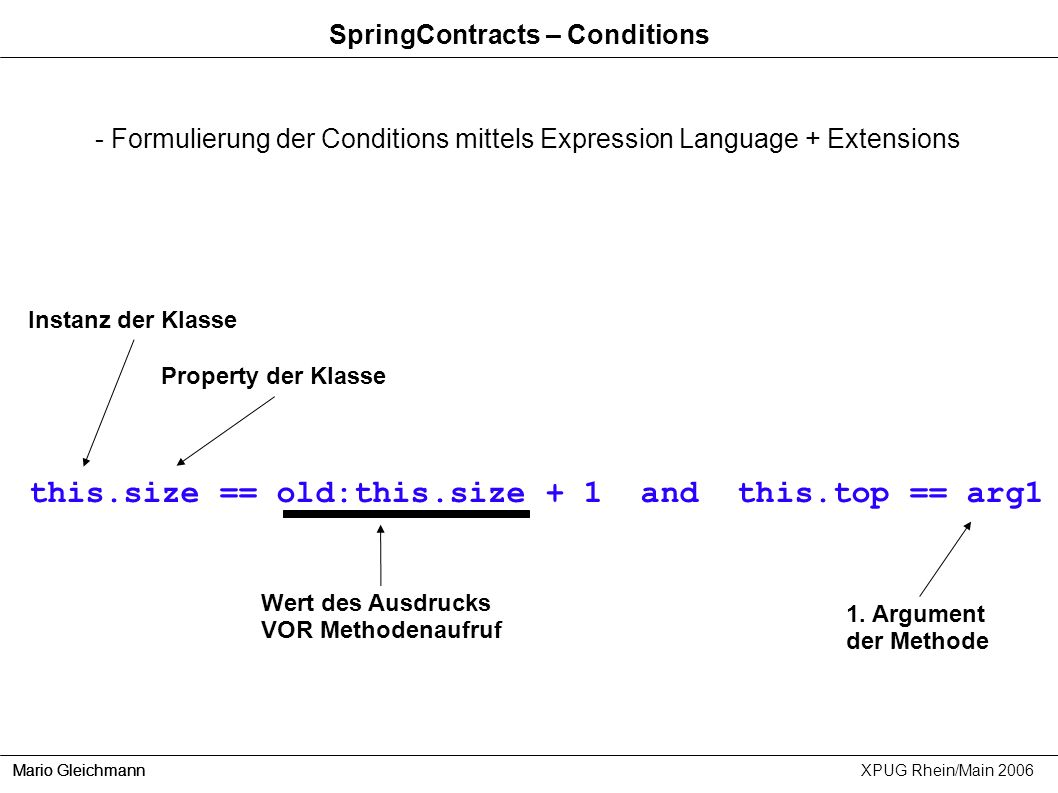 SpringContracts – Conditions