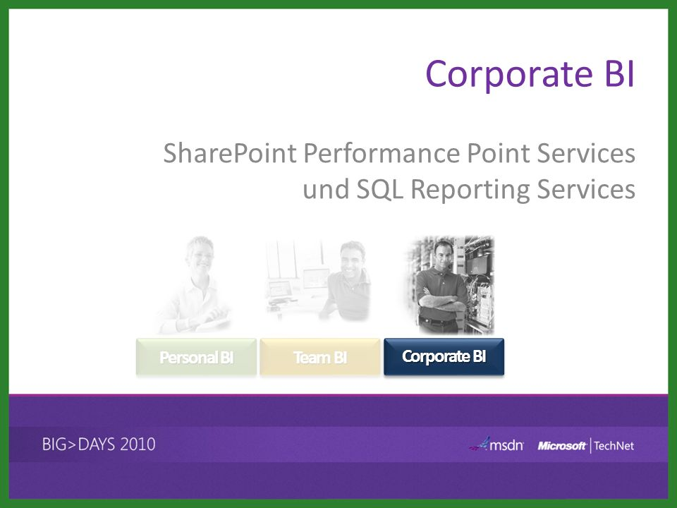 SharePoint Performance Point Services und SQL Reporting Services