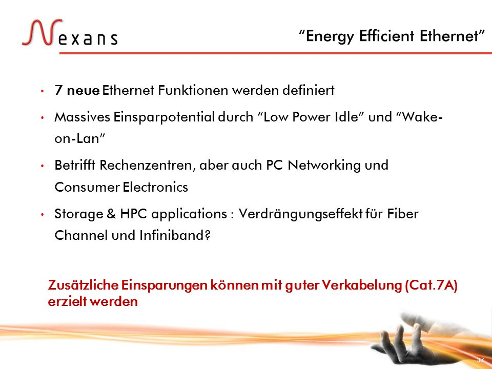 Nexans Cabling Solutions - ppt herunterladen