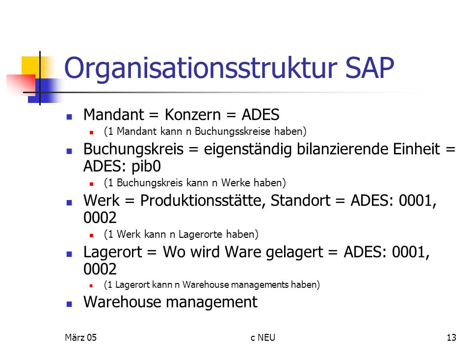 Organisationsstruktur SAP