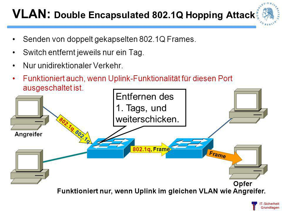 VLAN: Double Encapsulated 802.1Q Hopping Attack