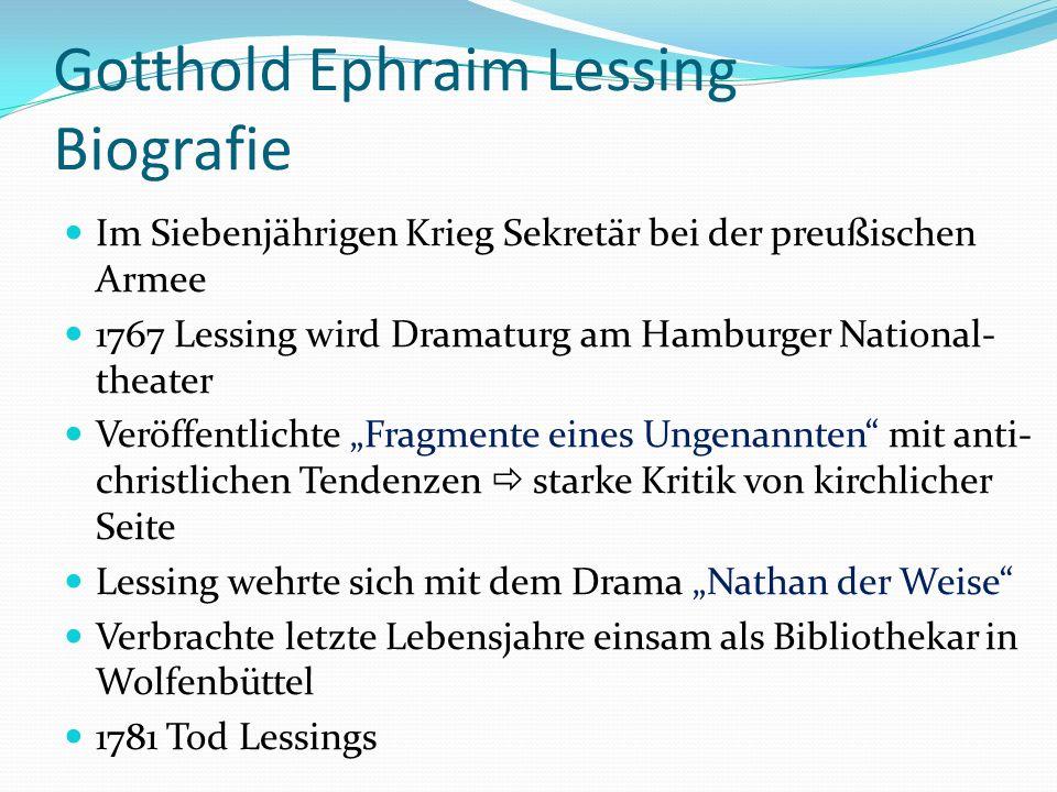 Von Gotthold Ephraim Lessing Ppt Video Online Herunterladen 0