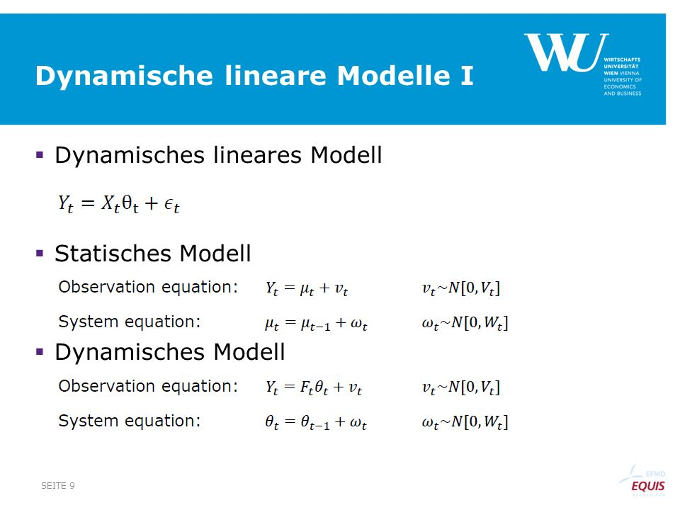Dynamische lineare Modelle I