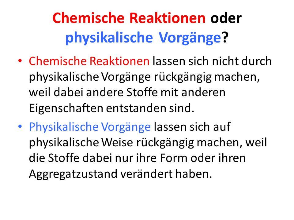 5 chemische reaktionen - Beispiele Fur Chemische Reaktionen