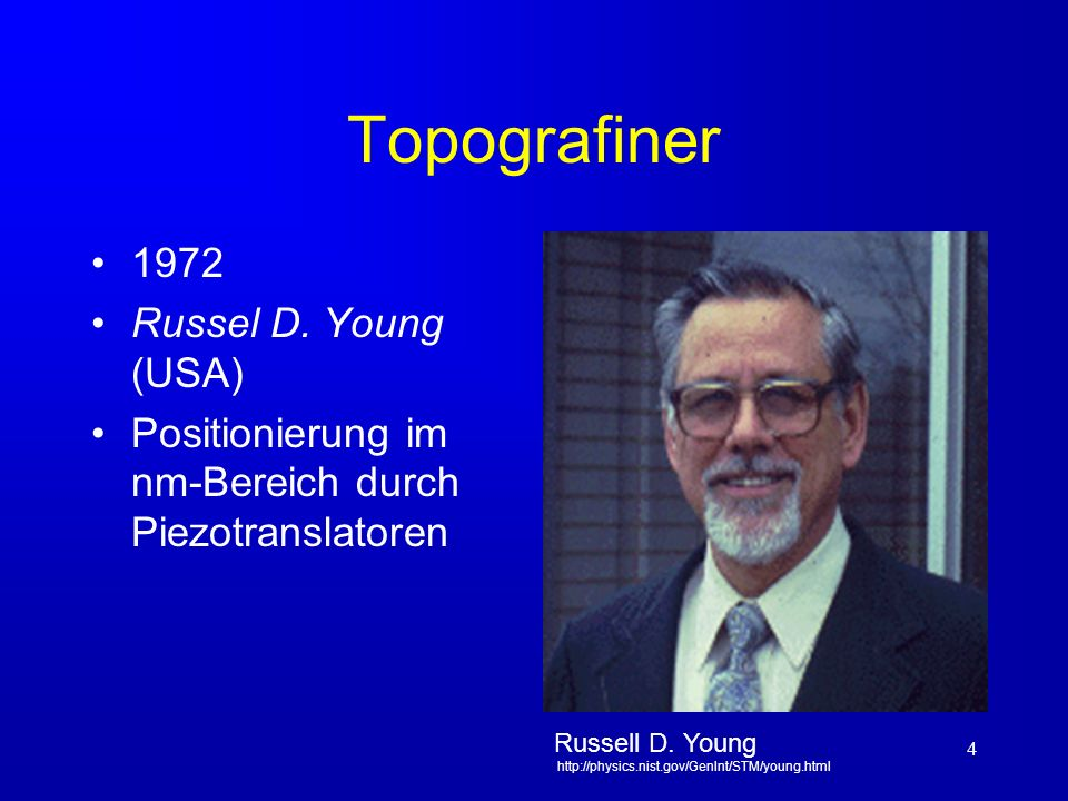 Topografiner 1972 Russel D. Young (USA)