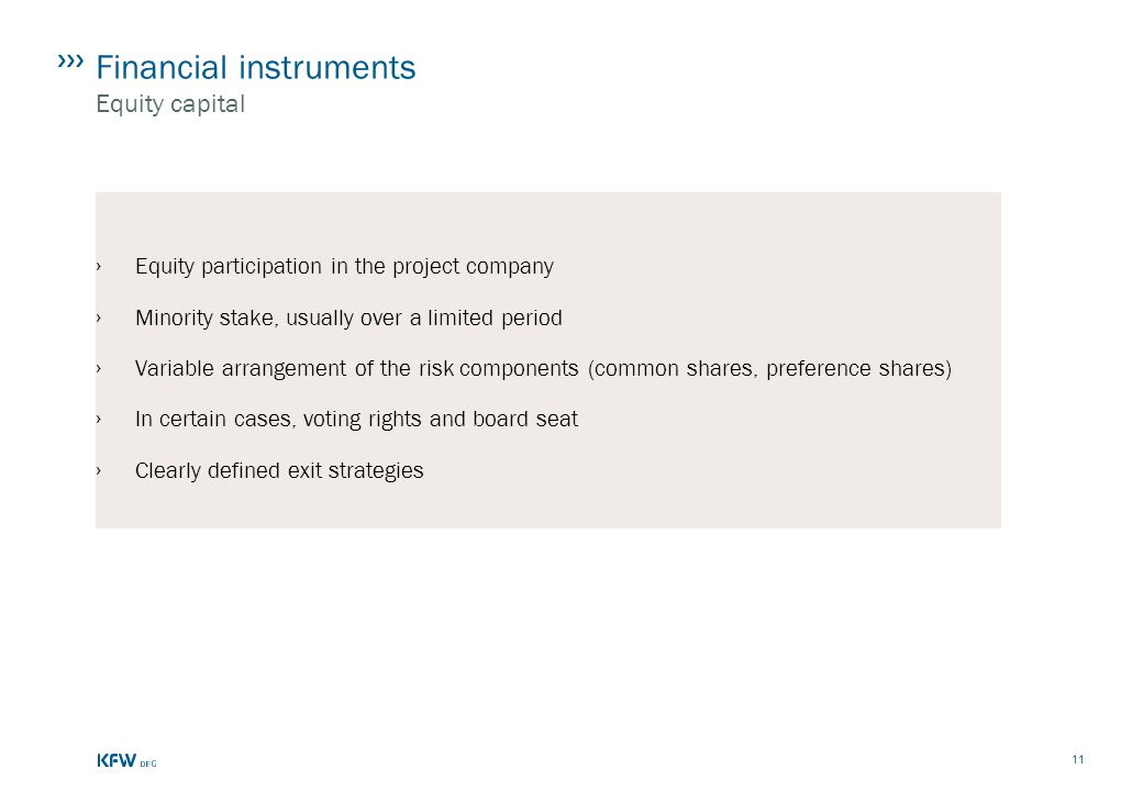 Financial instruments Equity capital