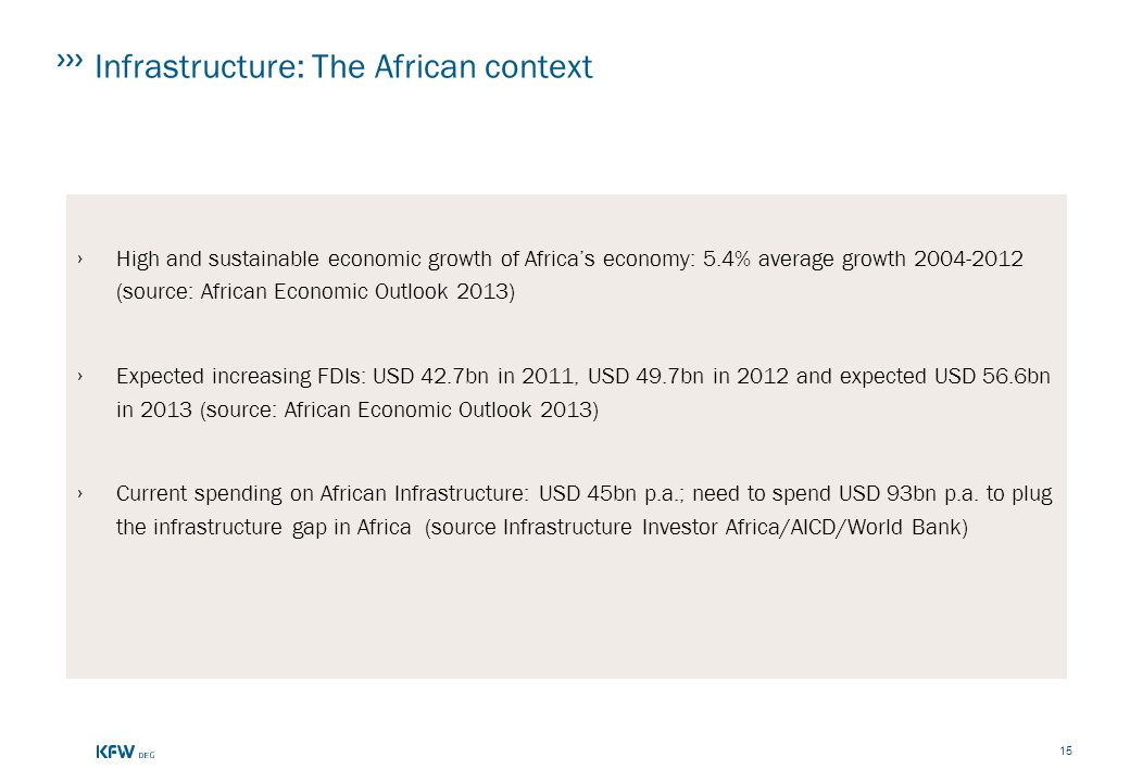 Infrastructure: The African context