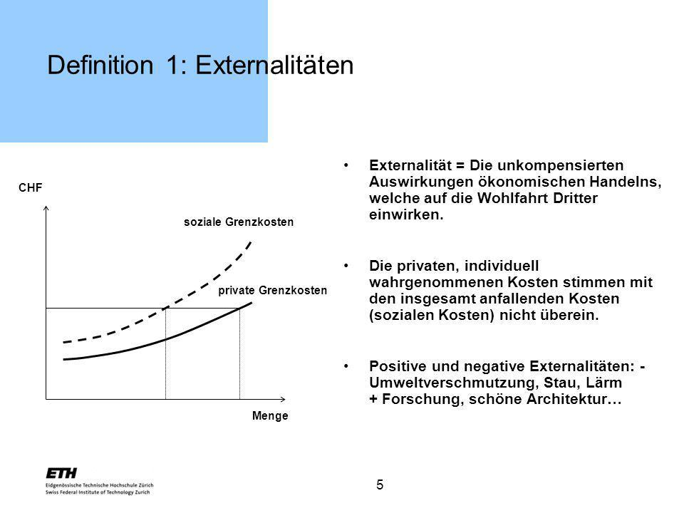 Definition 1: Externalitäten