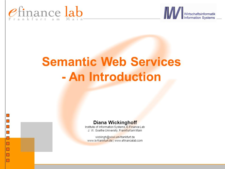 Semantic Web Services - An Introduction