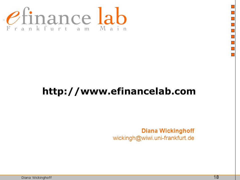 http://www.efinancelab.com Diana Wickinghoff