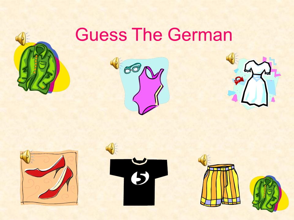 Guess The German