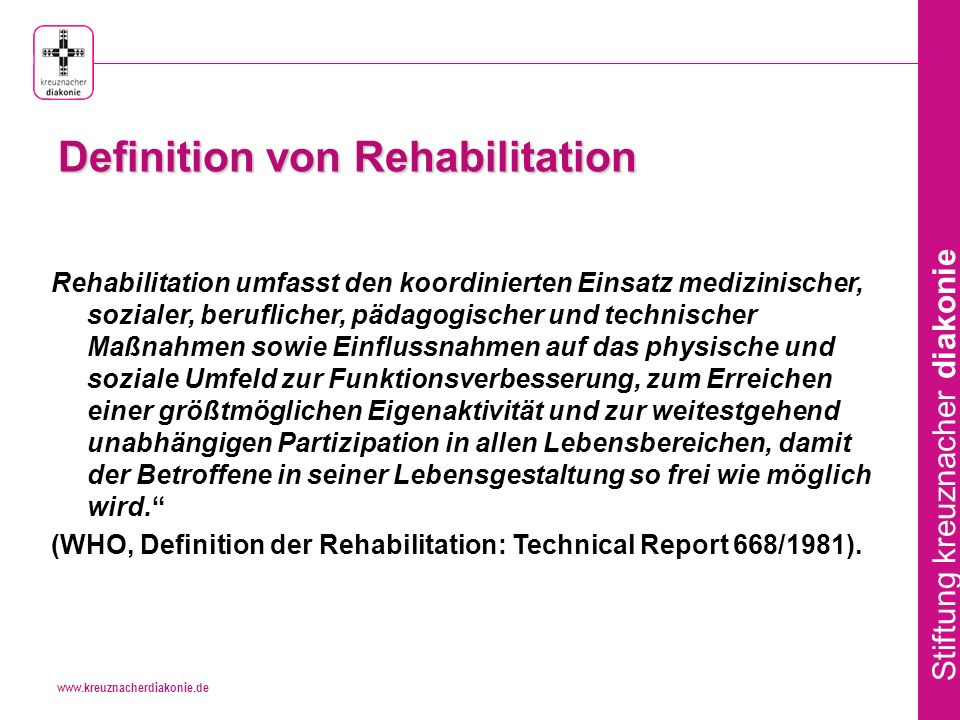 Definition von Rehabilitation