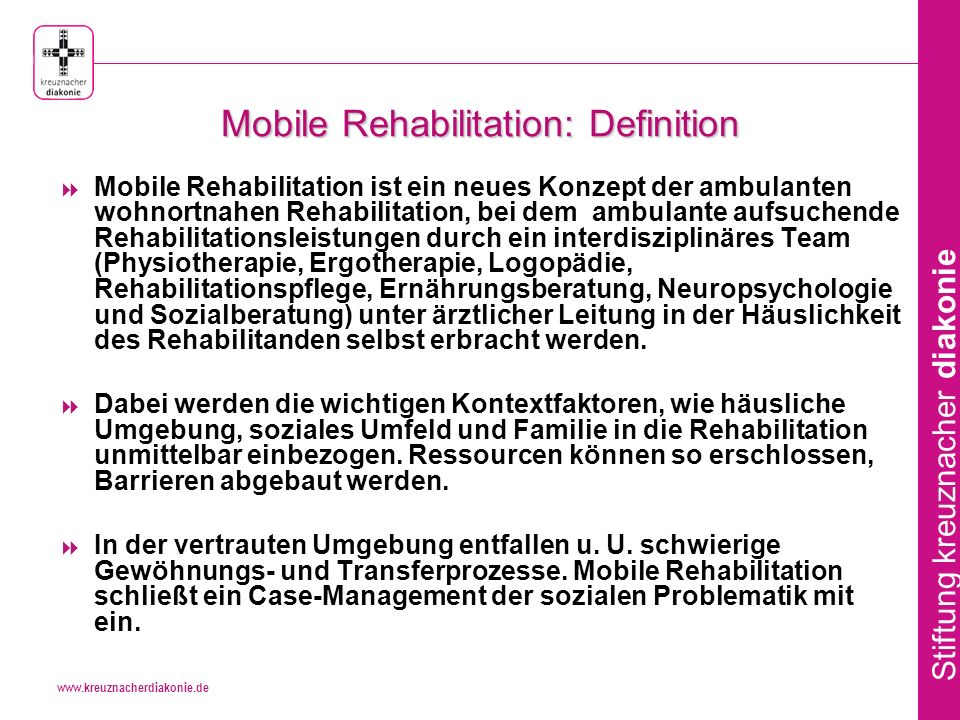 Mobile Rehabilitation: Definition