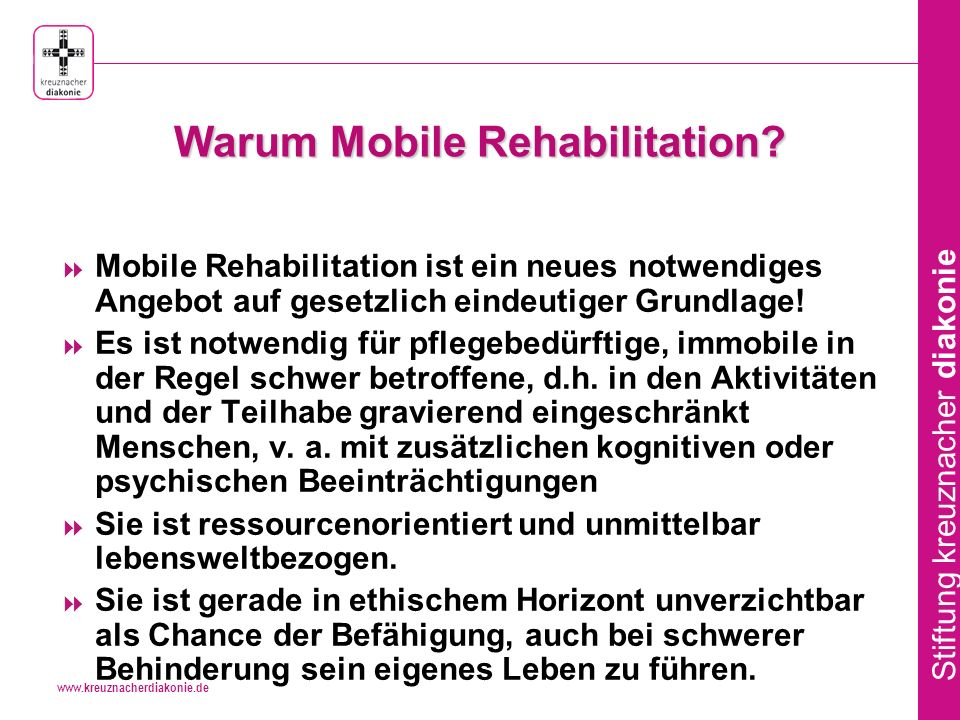 Warum Mobile Rehabilitation
