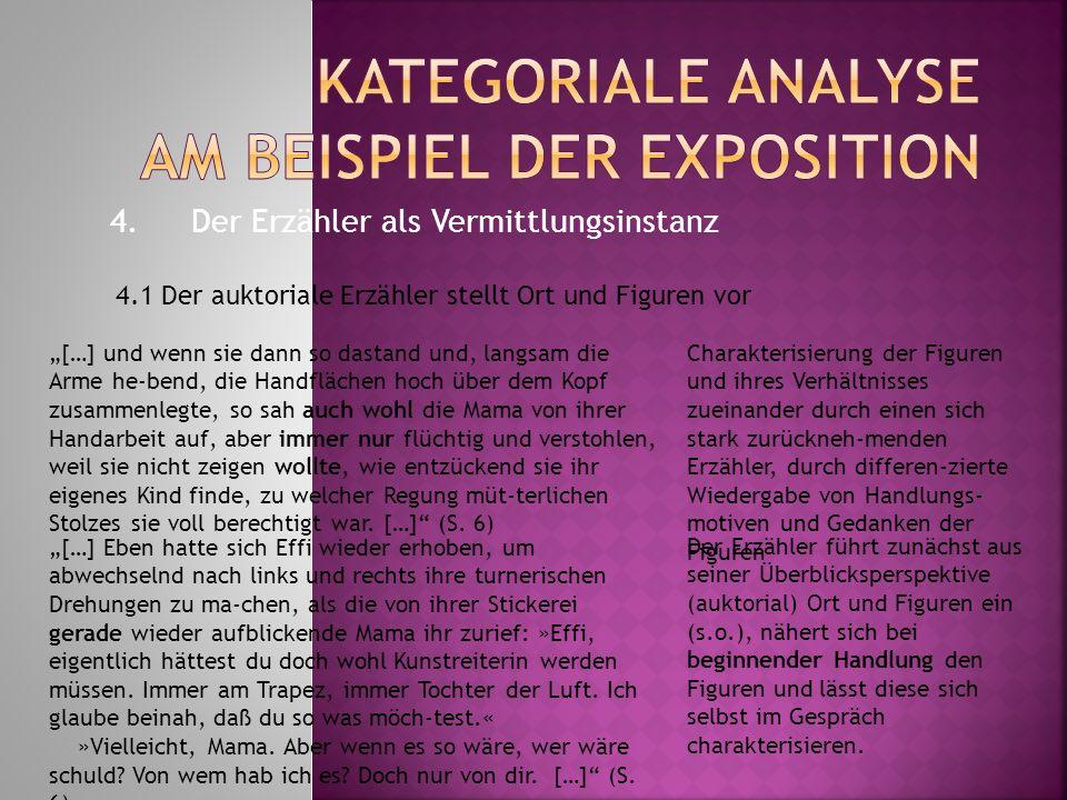 kategoriale analyse am beispiel der exposition - Auktorialer Erzahler Beispiel