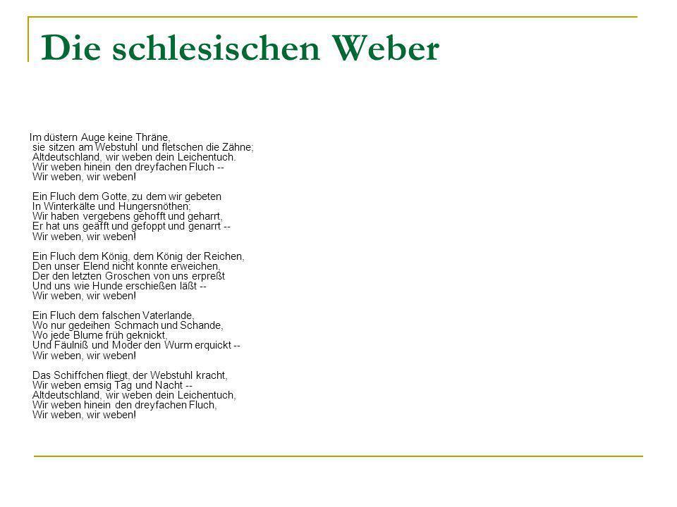 Heinrich heine die schlesischen weber
