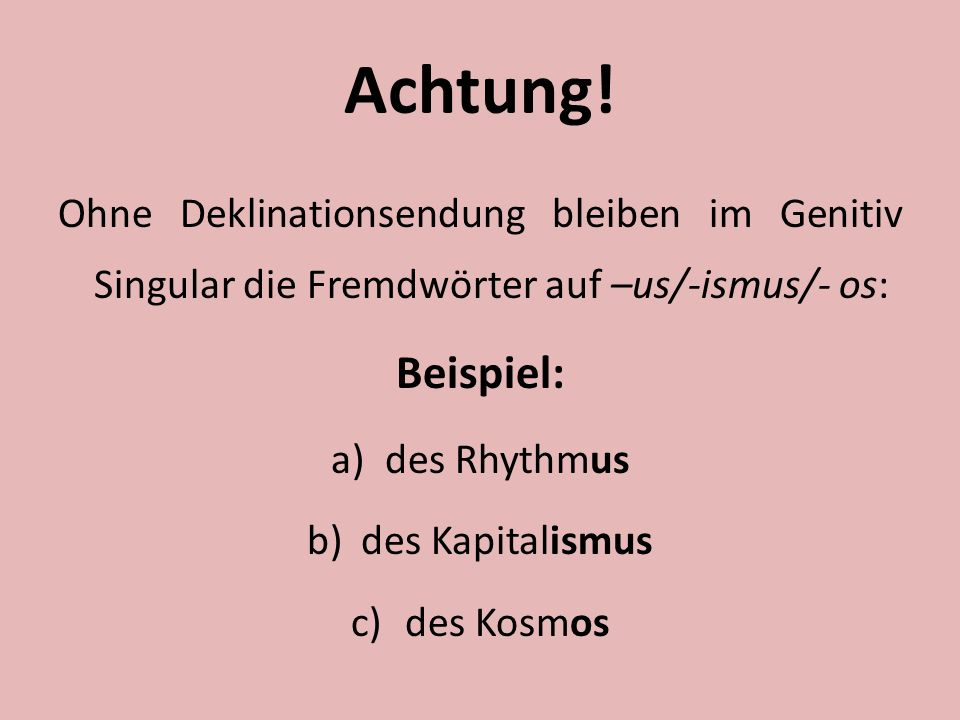 Deklination Der Adjektive Deutsch B1 Tabellen 5