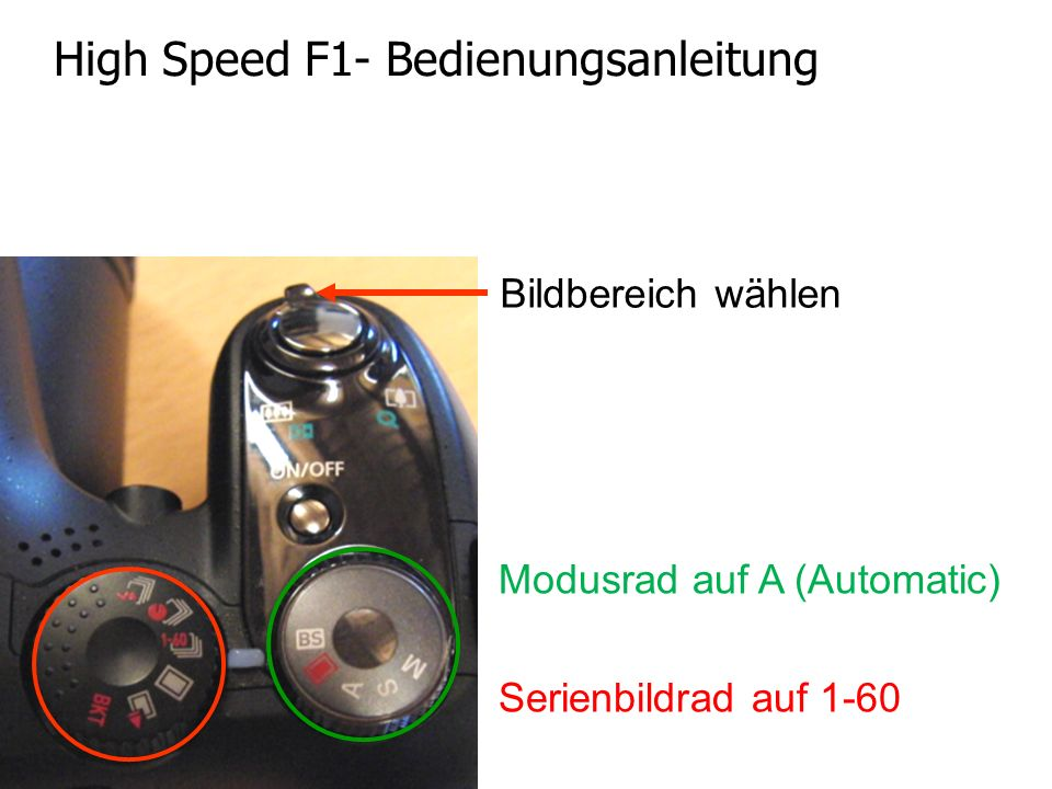 High Speed F1- Bedienungsanleitung