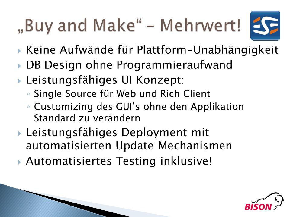 """Buy and Make – Mehrwert!"