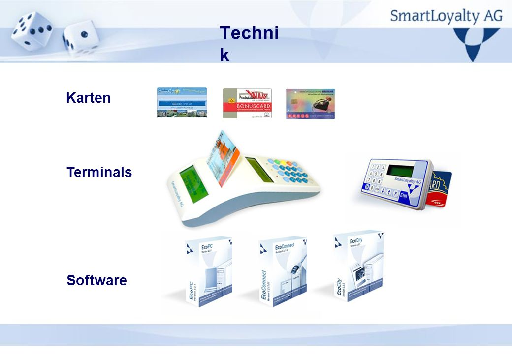 Technik Karten Terminals Software