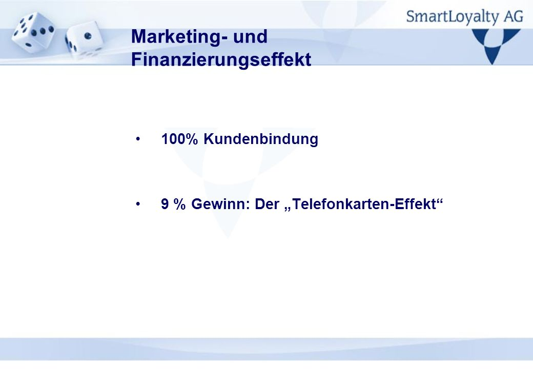 Marketing- und Finanzierungseffekt