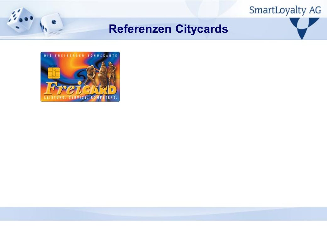Referenzen Citycards