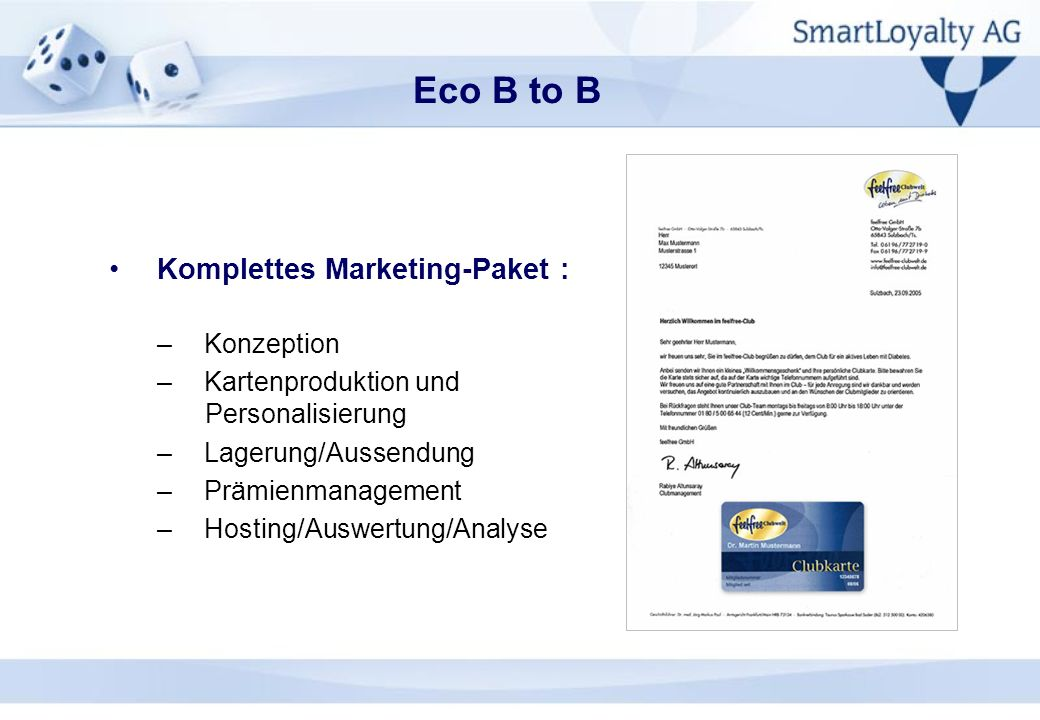 Eco B to B Komplettes Marketing-Paket : Konzeption