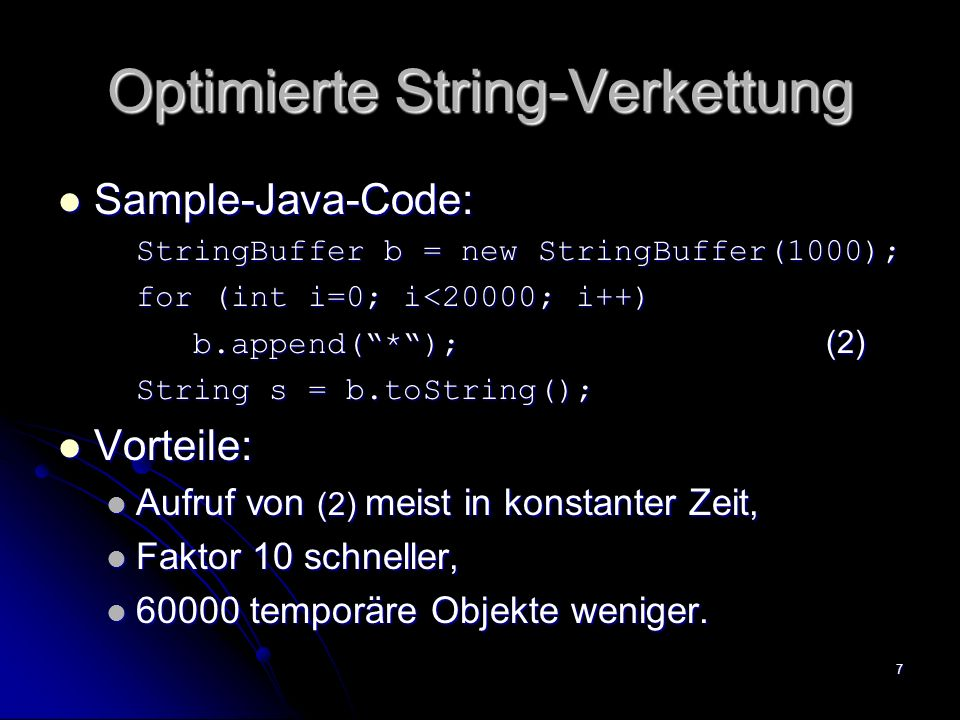 Optimierte String-Verkettung