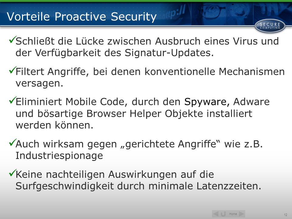 Vorteile Proactive Security
