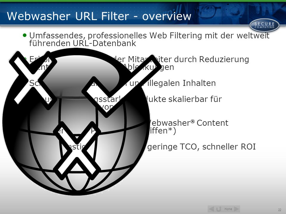 Webwasher URL Filter - overview