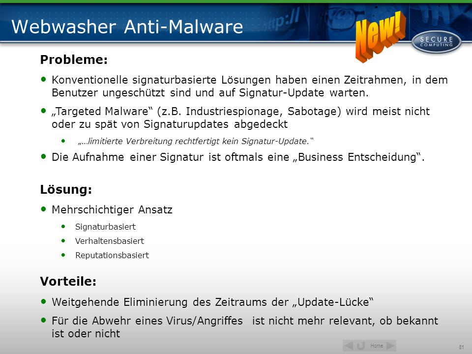 Webwasher Anti-Malware