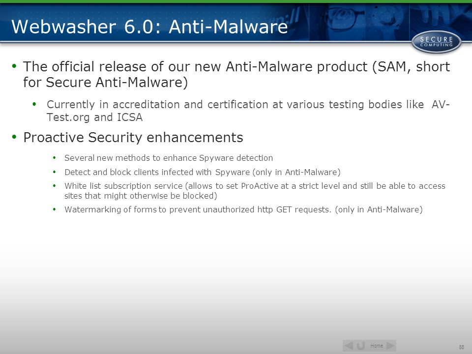 Webwasher 6.0: Anti-Malware
