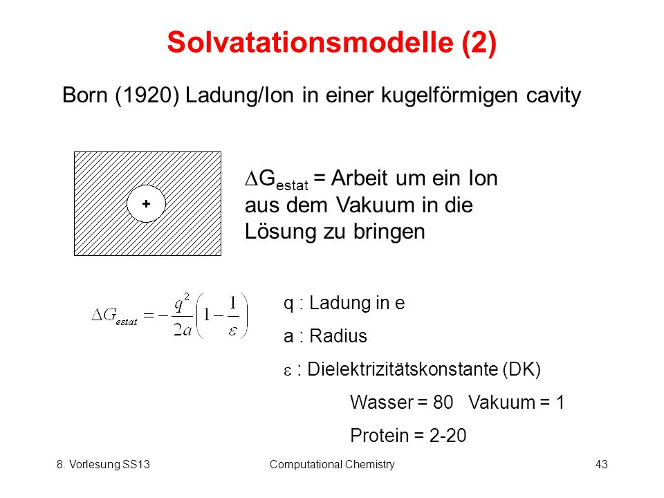 Solvatationsmodelle (2)