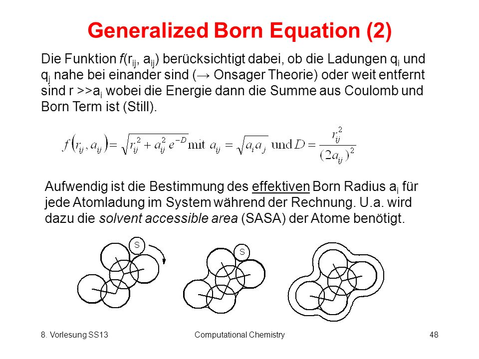 Generalized Born Equation (2)