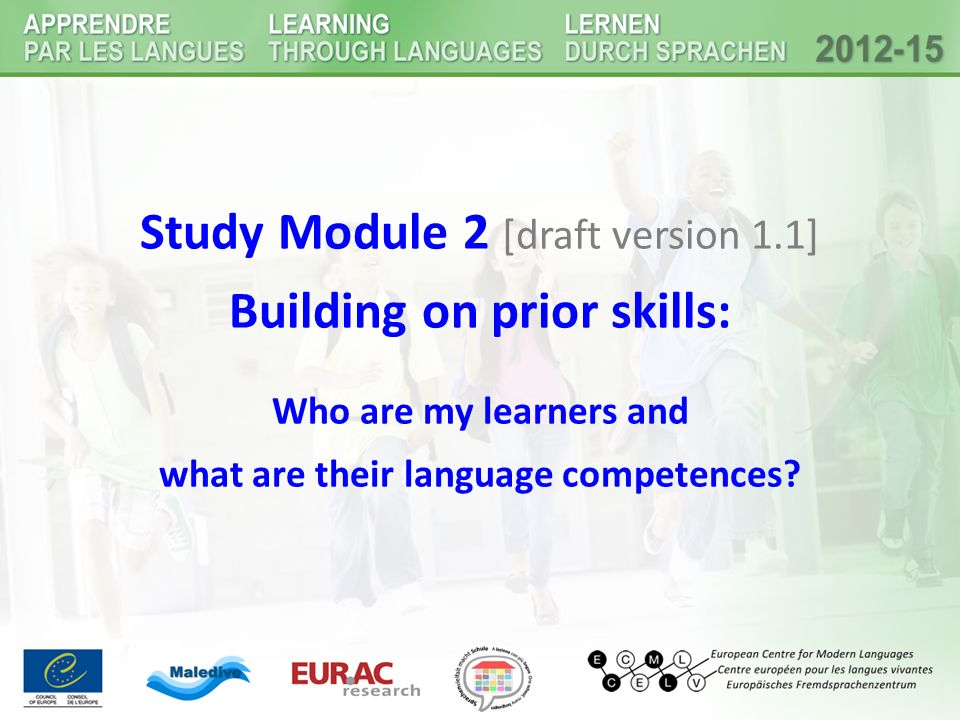 Building on prior skills: what are their language competences