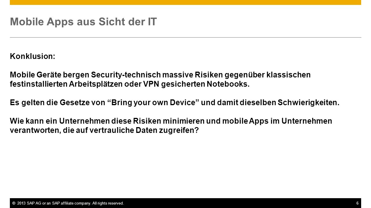 Mobile Apps aus Sicht der IT