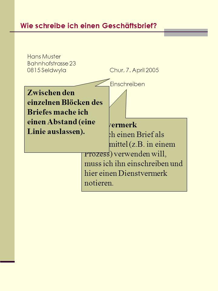 Eine Anleitung Für Lernende Der Gewerblichen Berufsschule Chur Ppt