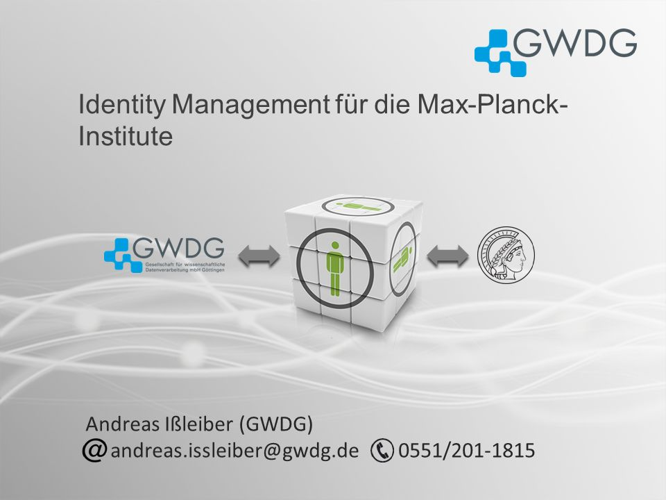 Identity Management für die Max-Planck-Institute
