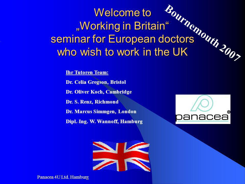 "Welcome to ""Working in Britain seminar for European doctors who wish to work in the UK"