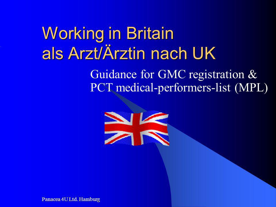 Working in Britain als Arzt/Ärztin nach UK