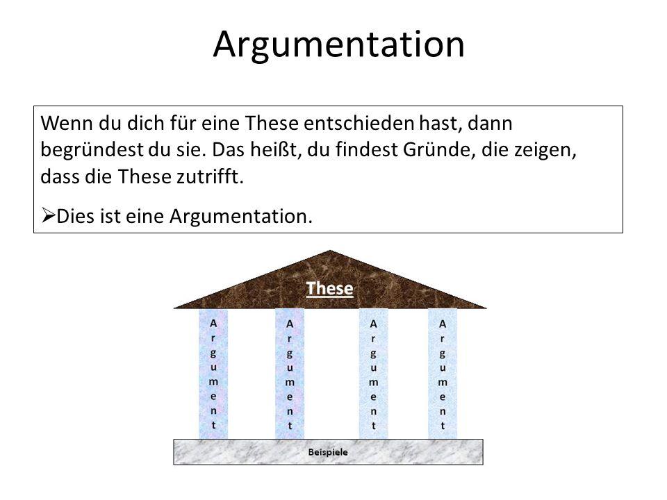 was ist eine argumentation